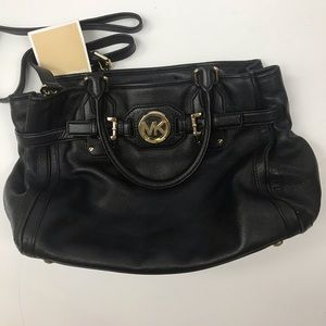 Michael Kors Black Leather Bag-Nearly Perfect